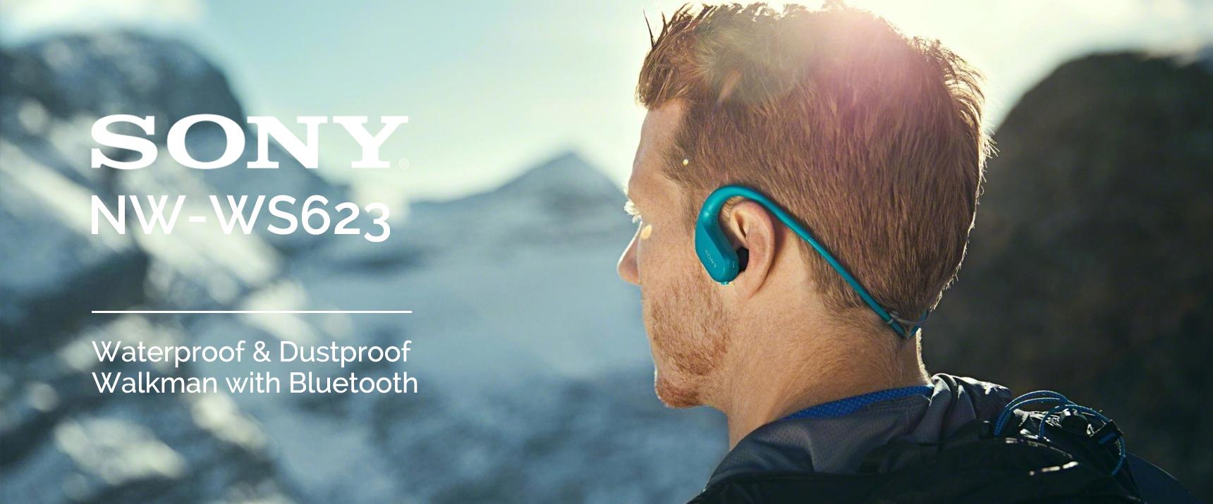 SONY WS623 – אוזניות בעלות נגן מובנה, מוגנות מים ואבק לחלוטין – עכשיו בגרסת הBluetooth!!