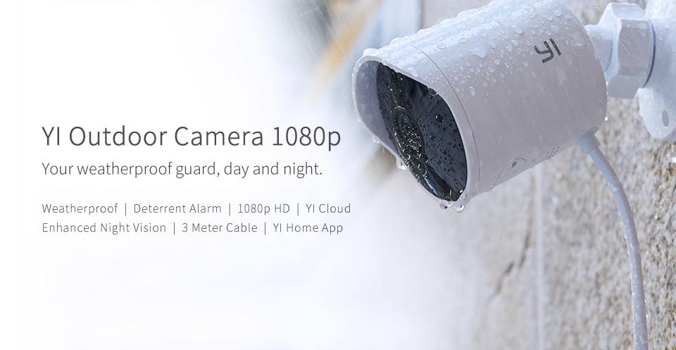 מצלמת האבטחה החיצונית של Yi – Yi Outdoor security Camera בקופון אדיר !