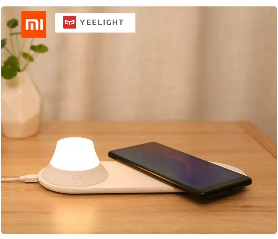 המטען האלחוטי הכולל תאורה מובנית מגנטית מבית Xiaomi Yeelight