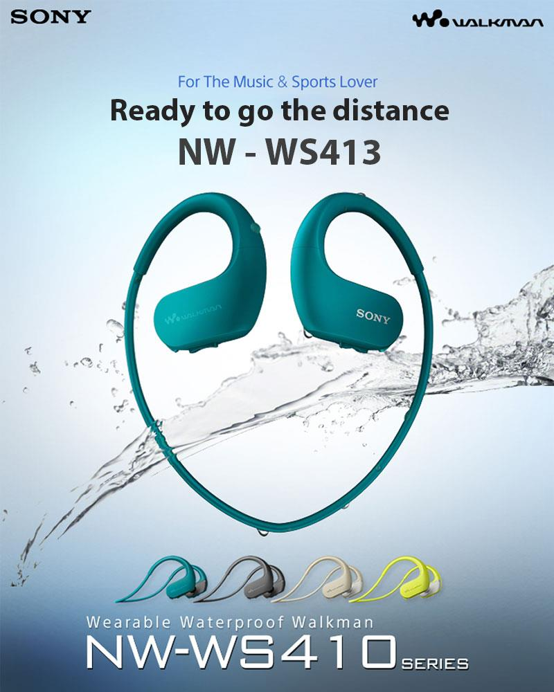 SONY WS413 – אוזניות הווקמן בעלות נגן מובנה, מוגנות מים ואבק לחלוטין