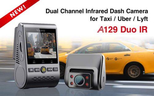 מצלמת הרכב הכפולה מהמובילות בשוק, הViofo A129 IR Duo! + ראייה אינפרא אדום לצילום בלילה.