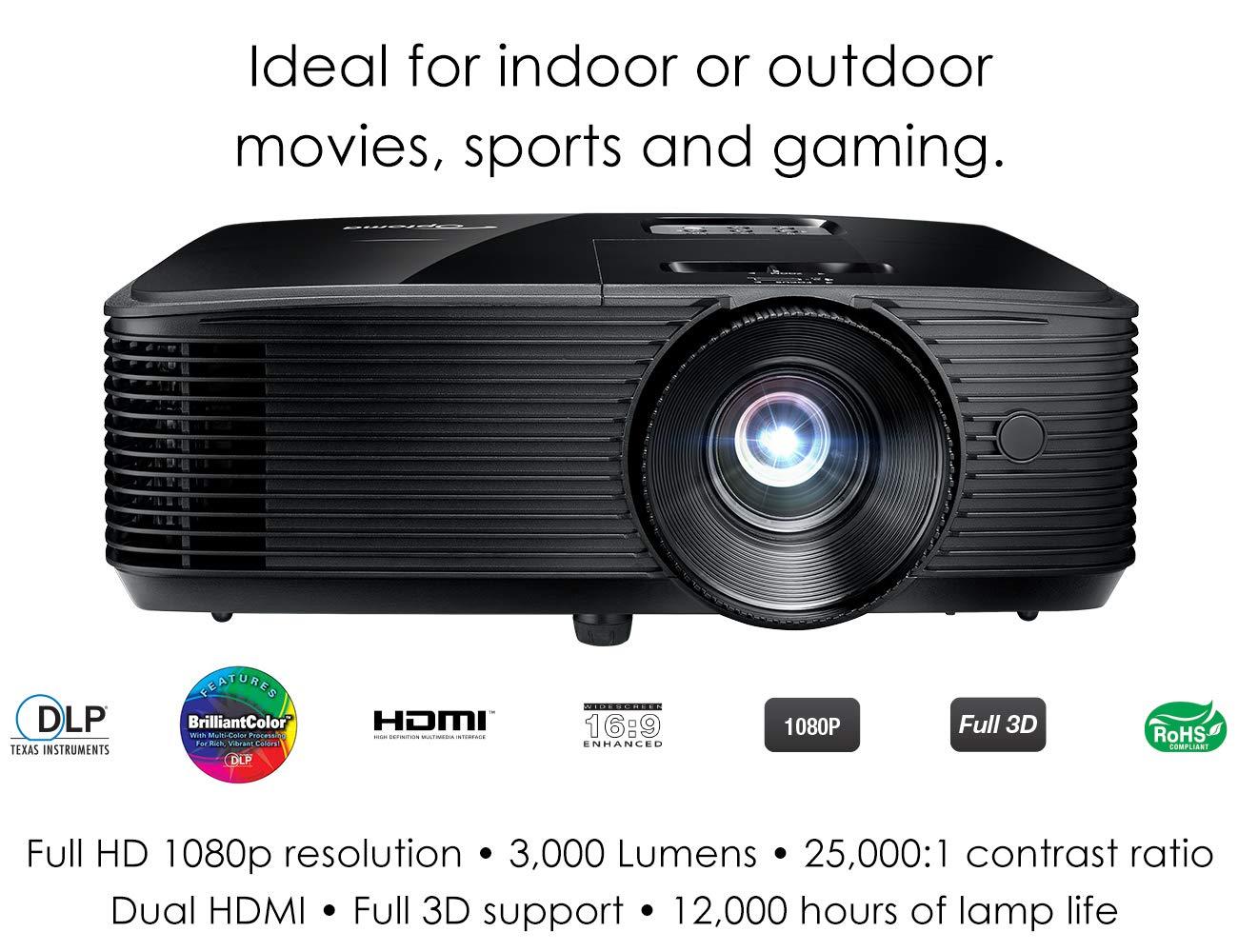 מקרן מבית  Optoma HD143X 1080p