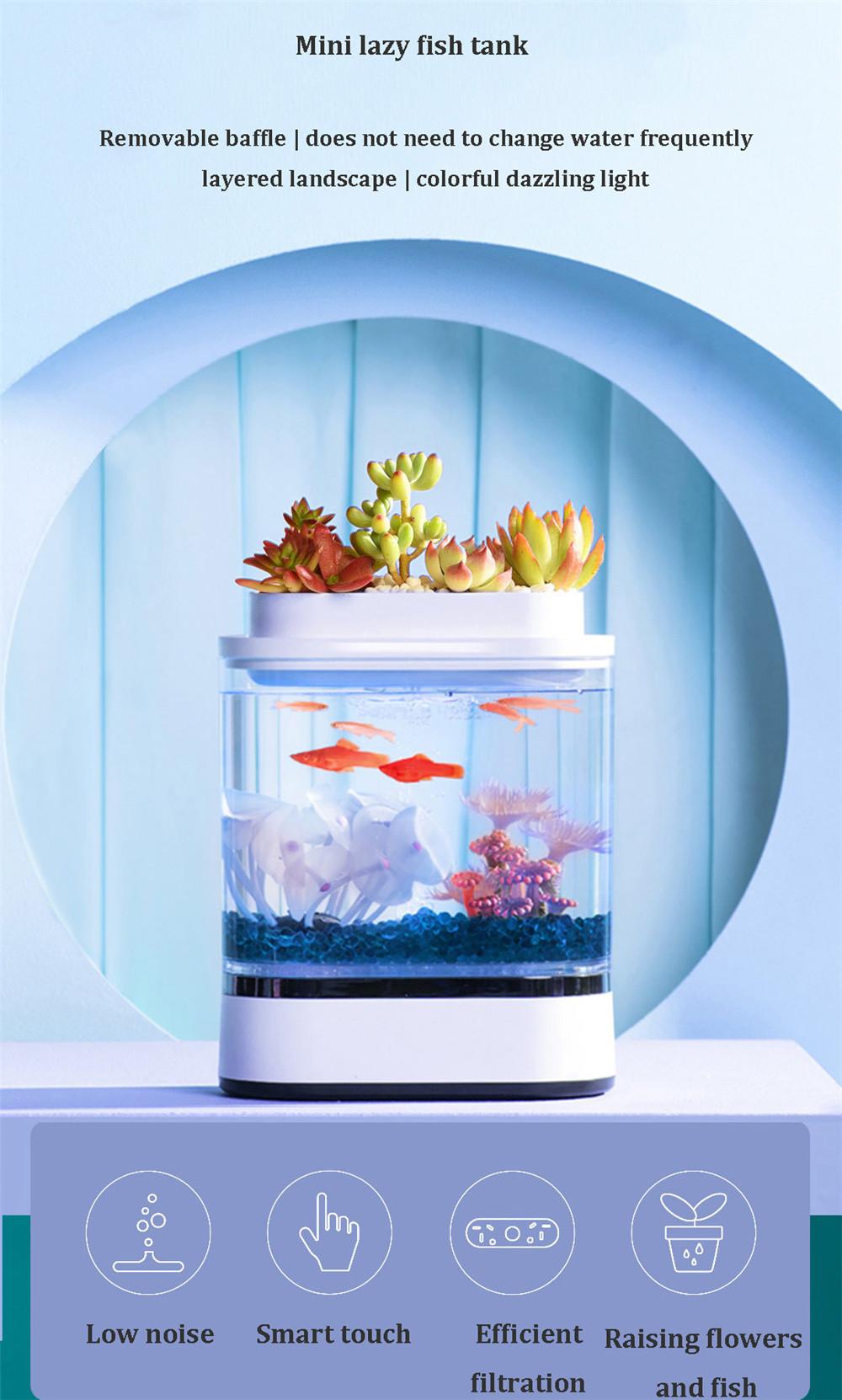 אקווריום דקורטיבי כולל תאורת לד מבית שיאומי יופין במחיר פגז