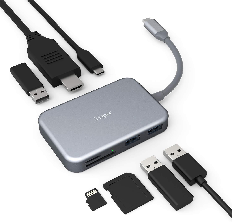 מפצלת iHaper C003 USB C Hub, 7-in-1 במחיר הזייה באמאזון