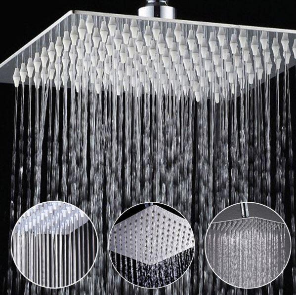 ראש מרובע מפנק למקלחת בגרושים