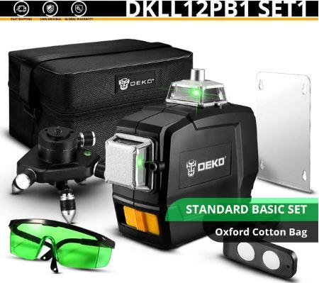 פלס לייזר DEKO מדגם DKLL12PB1 12 Lines 3D