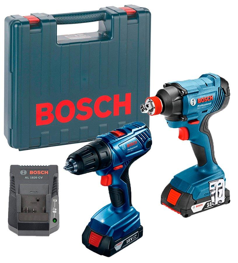 בלעדי! סט Bosch 180 LI 18V הכולל מקדחה מקצועית GSR ומברגת אימפקט GDX