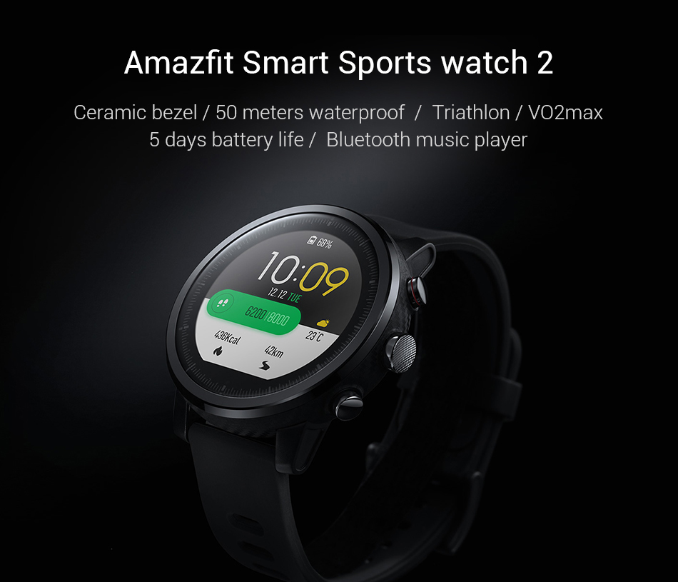 Xiaomi Huami Amazfit Stratos 2 – שעון חכם וספורט מבית שיאומי