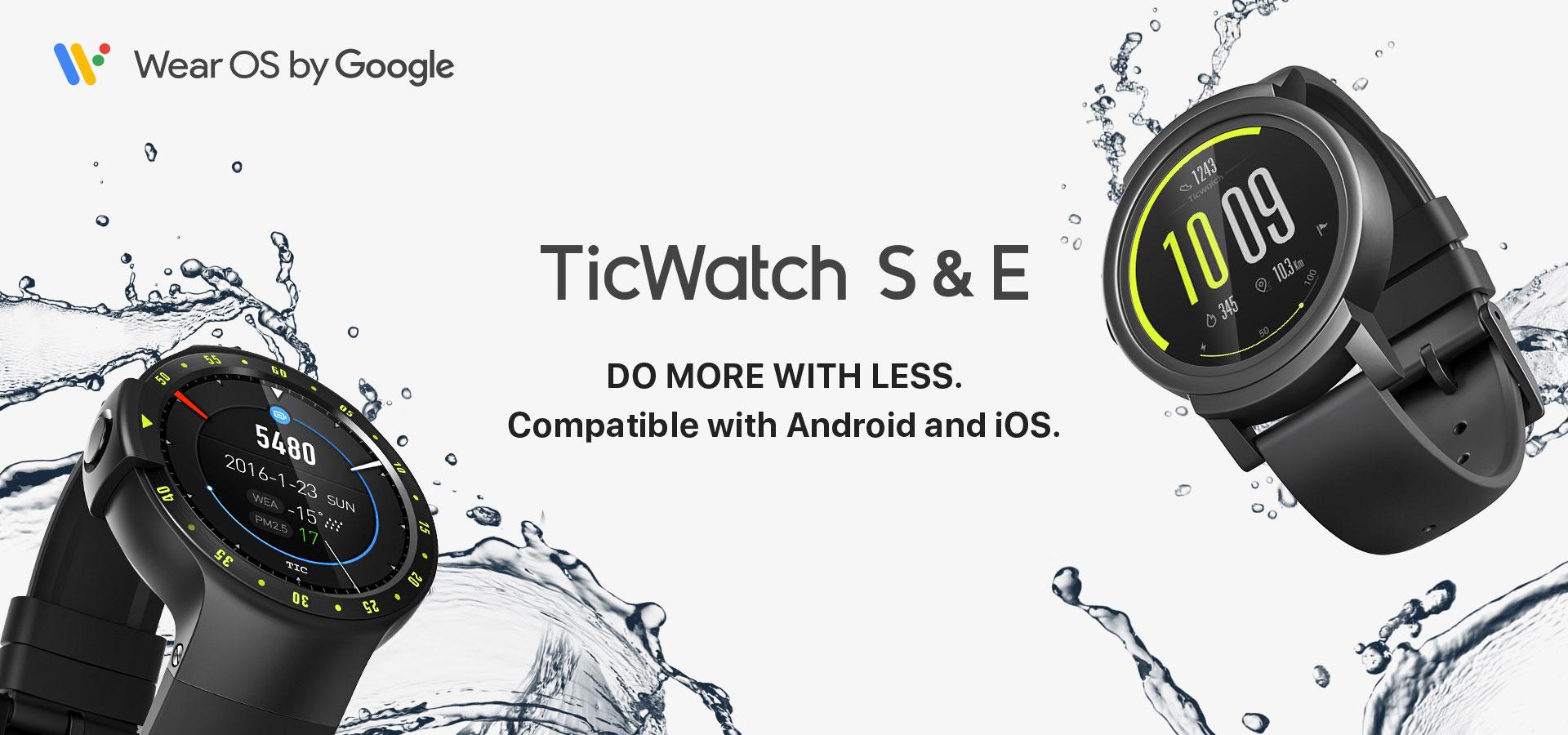 שעון חכם TicWatch E – עם מערכת Google wear OS ועברית מלאה!
