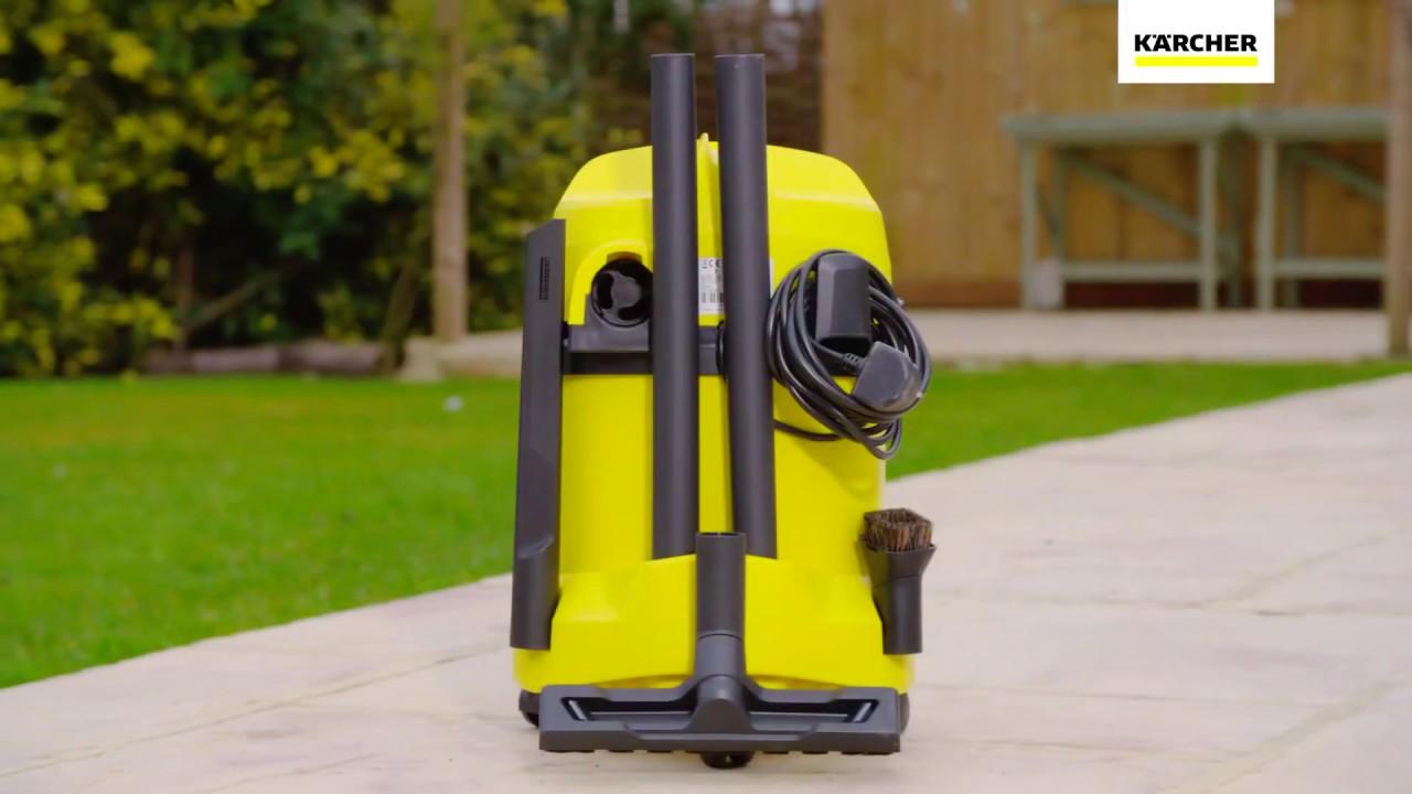 החבר הכי טוב של בעלי בית פרטי –  Karcher WD3 שואב אבק יבש/רטוב!