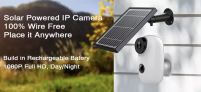 מצלמת אבטחה חיצונית סולארית  GUUDGO A3 – זהו, אין יותר חוטים!