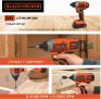 מברגת אימפקט BLACK&DECKER 20V MAX במחיר שערורייתי!