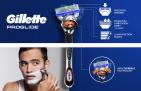 ידית גילוח + 4 סכיני הגילוח Gillette Proglide לגבר במחיר פנטסטי